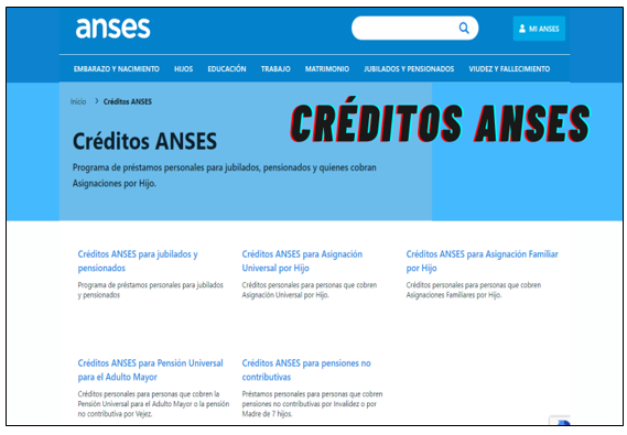 Créditos ANSES