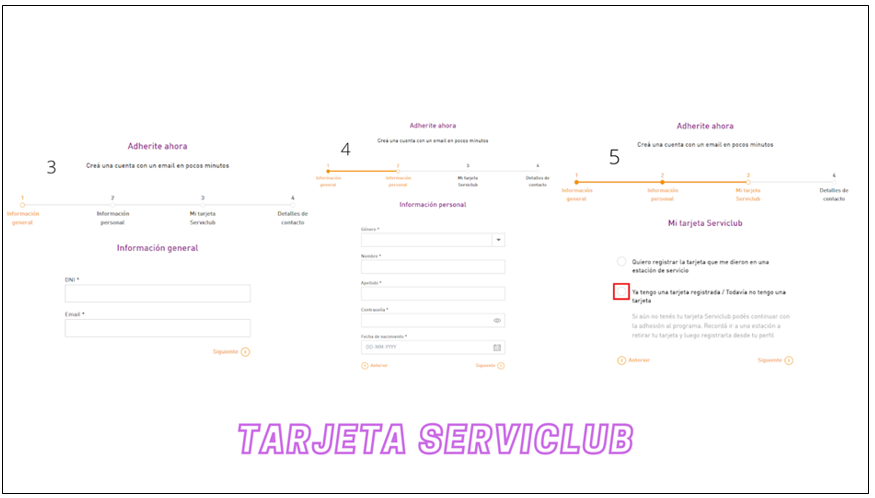 Tarjeta Serviclub: serviclub.com.ar