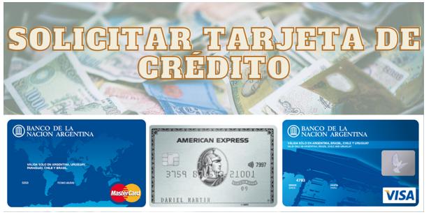 Solicitar Tarjeta de Crédito.