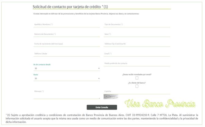 Visa Banco Provincia.