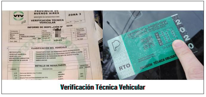 Solicitud VTV: Verificación Técnica Vehicular